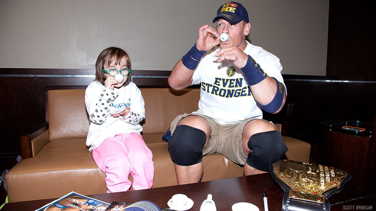 John Cena having a tea party with a child from the Make a Wish Foundation http://t.co/MBgLx3yP4L