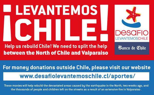 Help us rebuild Chile! We need to split the help between the North of Chile and Valparaiso ! http://t.co/Bb0ARR3jaa http://t.co/hefyXpzaHm