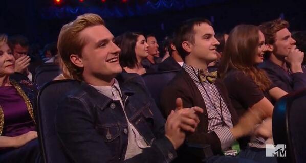 #VoteKatniss for Josh Hutcherson (and Sam Claflin!) at the #MTVMovieAwards. http://t.co/2A3Dt6IDne