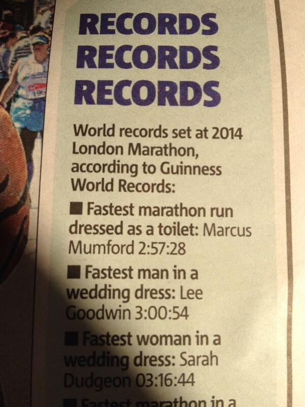 Wait, what? Marcus Mumford ran the #LondonMarathon dressed as a toilet?? http://t.co/ovMFSua9MI