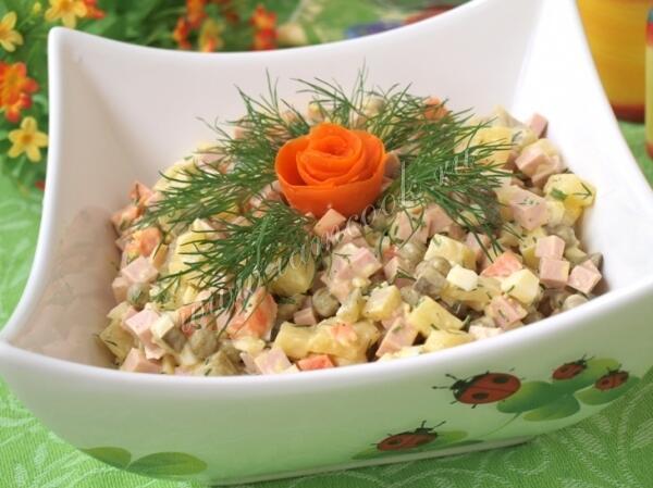Оливье с колбасой рецепты простые и вкусные