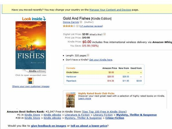 Gold And Fishes #Free @Amazon #Kindle ! #1  #Mystery #Thriller #Suspense http://t.co/R7tdGpACYb Get your copy today! http://t.co/CkHoNUCpEA