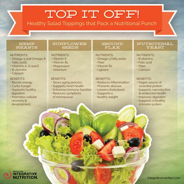 4 healthy salad toppings that pack a nutritional punch! http://t.co/pauPQjwUSD