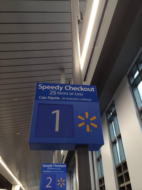 D.C. Walmart Sign Says English Speakers Can Bring More Items Into The Fast Checkout Lane