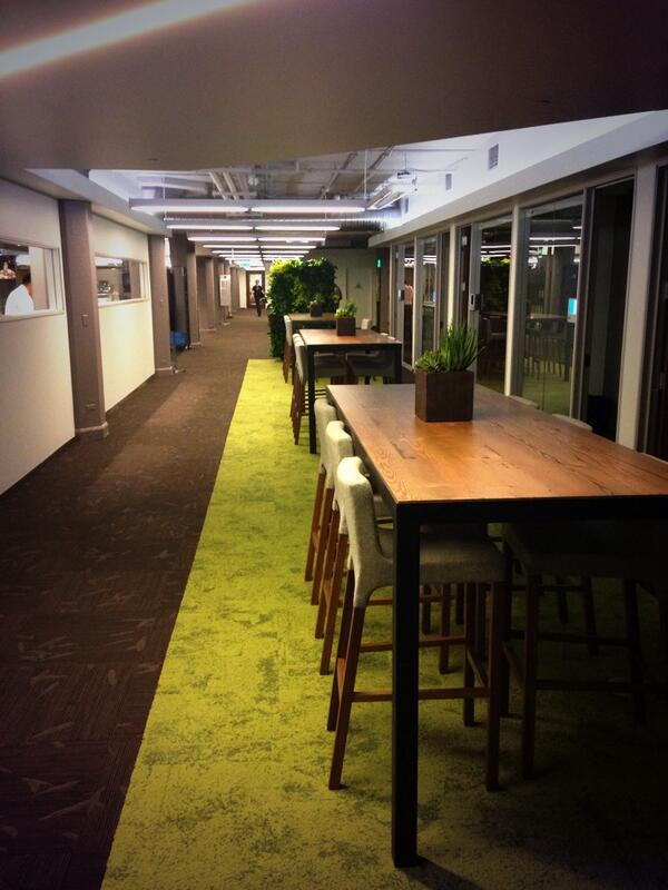 the 5th and 6th floors of #TwitterHQ opened today and it looks awesome - log cabins and all! http://t.co/elowdcnGAI