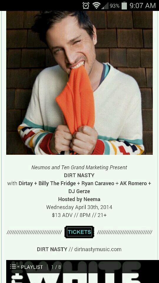 Dirt Nasty #Seattlehiphop @Neumos @RyanCaraveo come see Ryan tear the roof off on the 30th http://t.co/nTsC7W4hf5