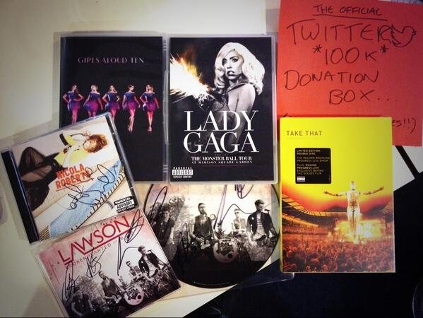 More goodies including signed @LawsonOfficial @NicolaRoberts plus some @ladygaga & @takethat DVD's RT #polydor100 http://t.co/iiBLnS22m7