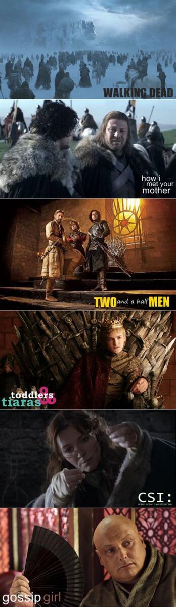Game of Thrones : 6 séries en 1. ^^ (v/ Imgur) #GoT http://t.co/WCOdKwK3kG