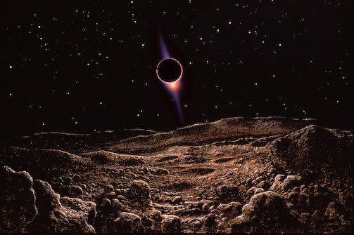 Y mientras nosotros vemos la #luna roja eclipsada esta noche ... esto es lo que ven nuestros vecinos de la luna ... http://t.co/CCTFki3IYj