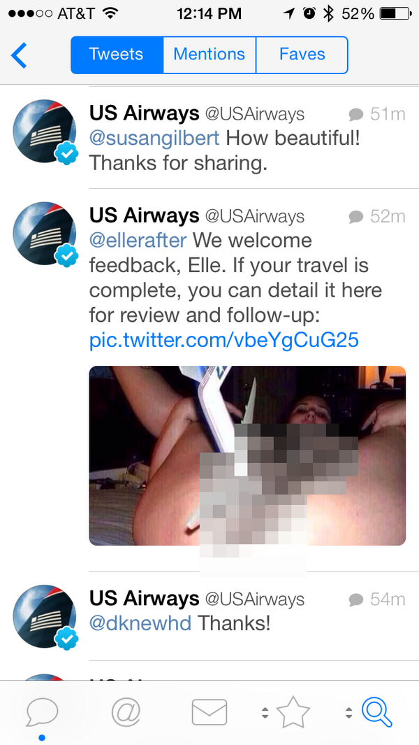 Wow @USAirways really gets Twitter customer service. http://t.co/biM9wx5eV0