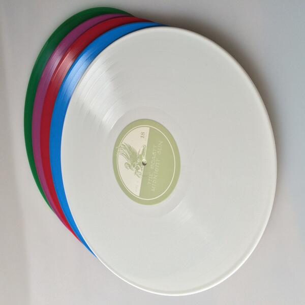 The vinyl gods have blessed 'Midnight Sun' w/ random color vinyl! 5 colors in the 1st pressing http://t.co/4ng1Y9wfbd http://t.co/7N1pPBRPrI