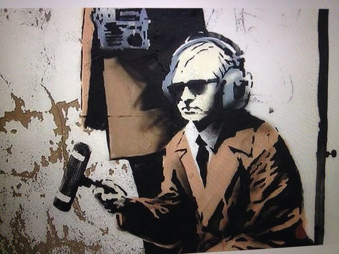#Assange featured in the new #Banksy near #GCHQ http://t.co/MxAnnHQ2IK