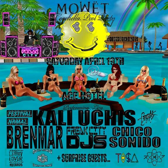 Watch your girl get #MoWËT at the @FREAKCITYLA @nrmal pool party @BBRENMAR @KALIUCHIS @CHICOSONIDO @iamoldyoung +... http://t.co/R9e3wAkFfd