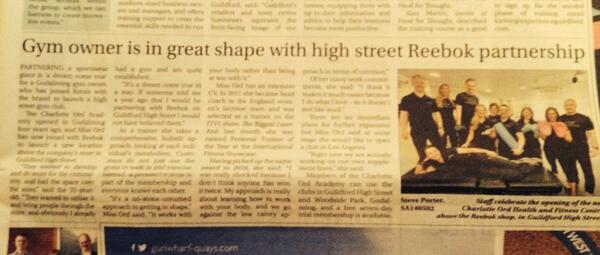 Nice write up about our @COAcademy Guildford opening in the Surrey Ad @getsurrey http://t.co/tbi7xhD357