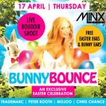 RT @Where2PartyJhb: TONIGHT @Minx_Lounge #DontMissOut on The Bunny Bounce Party!! FT- @Booth7 @trademarcdj & MORE!! #PartyTime http://t.co/BEXgvToQ0d