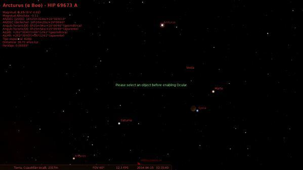 Según Stellarium estos son los objetos que se ven junto a la luna: http://t.co/dkI2kVMj2L