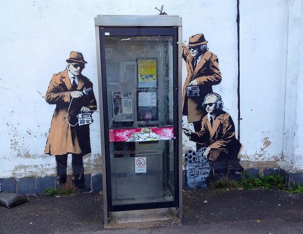 Over the weekend, UK surveillance and GCHQ got the #Banksy treatment http://t.co/UUI1ZyhP4N http://t.co/20hW9a1QRa