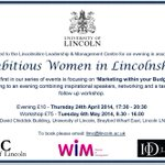 "Announcing the first of our ""Ambitious Women in Lincolnshire"" events - Marketing within your Budget > http://t.co/u4MDOKq8FP"