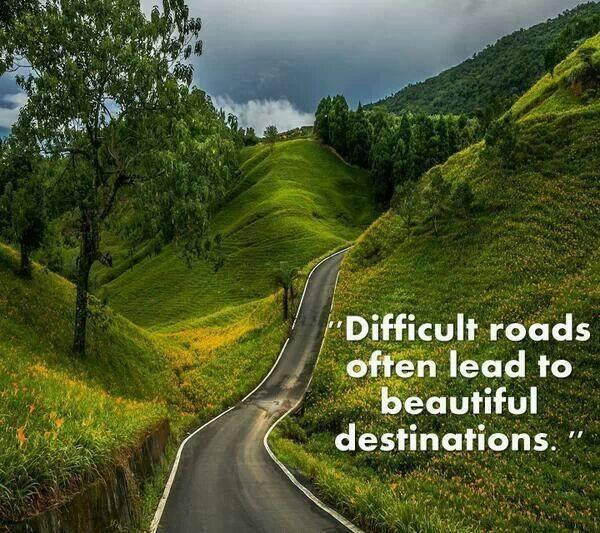 Difficult roads often lead to beautiful destinations. - #quote  https://t.co/a7K35iGq57