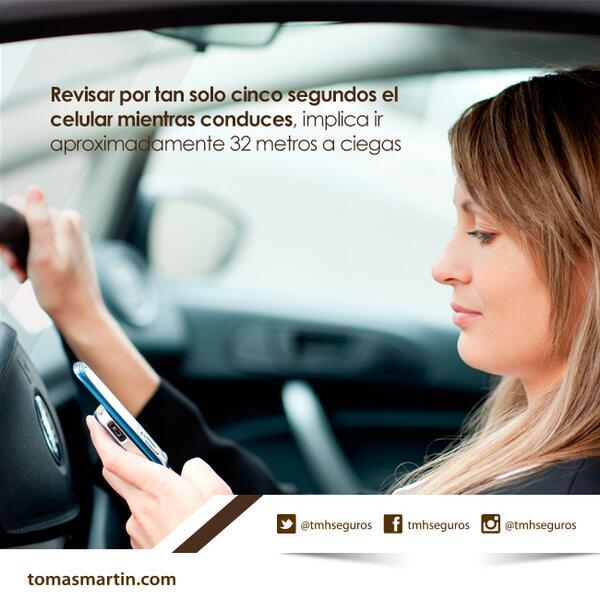 "Atención ""@tmhseguros: Revisar por tan solo 5 segundos  el celular mientras conduces, implica ir 32 metros a ciegas  http://t.co/eKGCVV5Hal"""