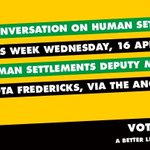 RT @eldridjordaan: Join the ANC Live Chat on Mxit with Deputy Minister of Human Settlements Zou Kota,Wednesday at 1pm! @GautengANC http://t.co/8xympzFXPL