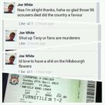 RT @REMEMBERTHE96: @LFC this idiot should not be allowed anywhere near anfield on the 27th. Total scum http://t.co/hLhqtQdTWr