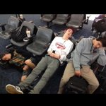Mrs. Johnson caught us slippin earlier at the airport 😴 http://t.co/YLU90TtJdW