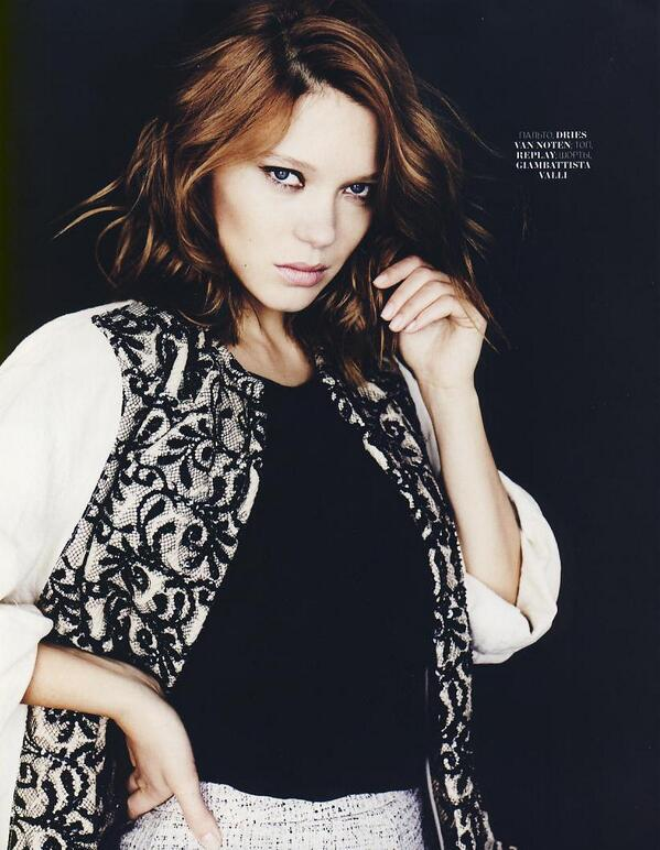 The charmante @Seydoux_Lea wearing a #replay #tshirt from the #ss14 collection. Pictured on @MarieClaire_ru http://t.co/atPDtd8uWQ