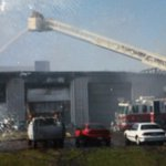 A warehouse fire at 2339 Heinz Rd has 7-10 firetrucks lined up to stop it. Check out @DITVNEWS to see footage of it! http://t.co/ILvT54GA2h