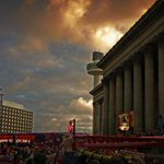 At the end of a storm theres a golden sky ... #JFT96 http://t.co/z2meVkT8iz