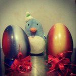 #Handmade #chocolate eggs for #Easter #EGGSperience @InPrimroseHill photobombed by #lookalike penguin. http://t.co/xBcaKMc1pu