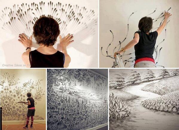 Finger Drawings by Artist Judith Braun! http://t.co/Fi6TzBpvHH