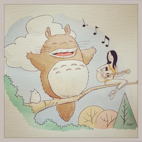 My biggest dream came true-I'm writing & singing the theme song to the next Studio Ghibli film - out this Summer!!! http://t.co/uSnwf0QZNf