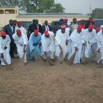Kwankwaso others sweep polo Ground After Jonathan left. Governor Kwankwaso, His Deputy Dr. Ganduje, APC chairman http://t.co/C1vW6RDgvY