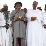 RT @aminugamawa: President Jonathan flanked by politicians in Kano. Tomorrow, someone will come and tell us Northerners hate Jonathan. http://t.co/9GF3IsSGgP