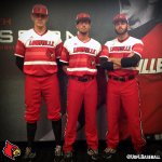 When we say Red Out....we mean RED OUT!  No.7 Louisville Cardinals with a new look tonight. #L1C4 http://t.co/FZMYKHpBmi