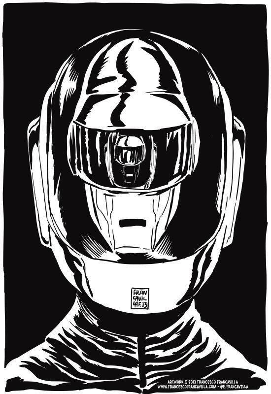 One Of The Best Daft Punk Fan Art I've Seen. https://t.co/1hPXVZQLkD