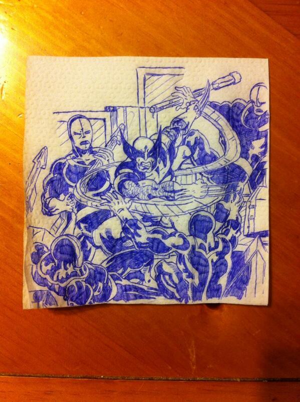 My ode to @JohnByrneSays   X-Men 133. #heronapkins http://t.co/6ofHMfAMPY
