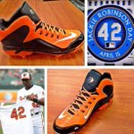 RT @TheBestGear: Adam Jones Jackie Robinson Day Cleats #TBG http://t.co/D8dUFR9k5m