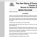 #Lateline Gerard Henderson needs to read @barryofarrells very specifically worded media release: http://t.co/I9lCbNlbaj #ICAC #GrangeGate