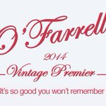 Out now, the OFarrell 2014 vintage. Just buy it before 10pm http://t.co/0W67wJLz5H http://t.co/juqjTcSvi7