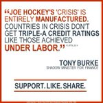 RT @Tony_Burke: Hockey doubled the deficit in a few months so he could pretend there was a crisis. #auspol http://t.co/UCzVnLoxRw