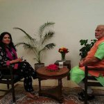 RT @narendramodi: Before starting for today's rallies, sitting for an interview with @ANI_news editor @smitaprakash http://t.co/Jz13YTsGL4