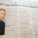 "Dr Devi Prasad Shetty, pioneer of low cost healthcare ""Modi cN deliver. I am his great admirer"" http://t.co/zwO6hwpHPy"