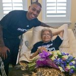 .@Isaiah_Thomas2 surprises his #1 fan, 98-year-old Feling, and brings her flowers at her home today. http://t.co/jGNddpiXnS