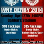 the #WNYDerby!!! Rochester | Buffalo Beer. Football. Charity. #Roc http://t.co/2Es72XQZ7M