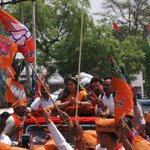RT @smriti4amethi: .@smritiirani on her way to file her nomination for Amethi. BJP flags all over .. Modi Modi chants even louder! http://t.co/xqtlqYfAGh
