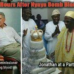 @ocupynigeria @omojuwa when foreigners are queuing to donate blood 4 victims our president is campaigning. So sad... http://t.co/Qr8iqWfVRy