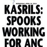 RT @TheMercurySA: In the Headlines... Kasrils: Spooks working for ANC. http://t.co/5pMMZYgCYb