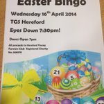 Hereford #YFC bingo tonight! @herefordbowl #yfcbingooverload #twofatladies88 http://t.co/YRbRmfA7gY